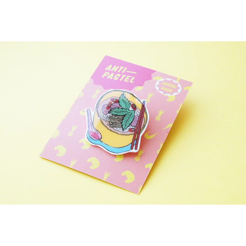 Badge: Pho Noodle Soup Brooch/Button