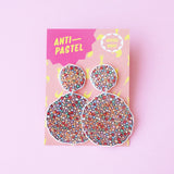 Earrings: Freckle Glitter Double Drop Earrings
