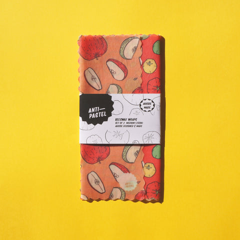 Beeswax Wraps: Set of 2 Medium (25cm)