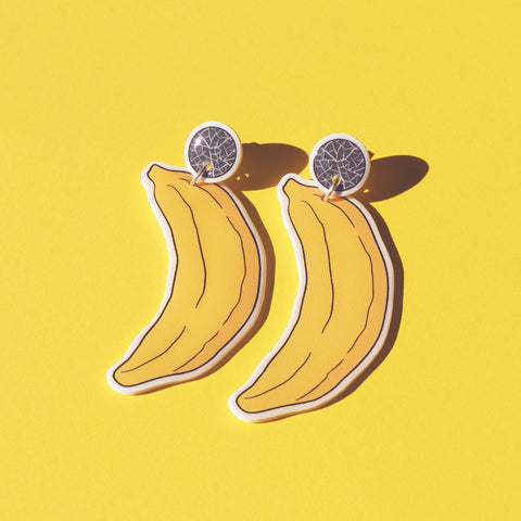 Earrings: Banana Drop Earrings