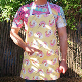 Apron: Prawn Yellow, 100% Linen