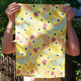 Tea Towel: Rockmelon Yellow, 100% Linen