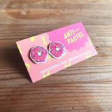 Earrings: Donut Stud Earrings, 5 colours available