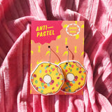 Earrings: Donut Drop Earrings, 3 colours available