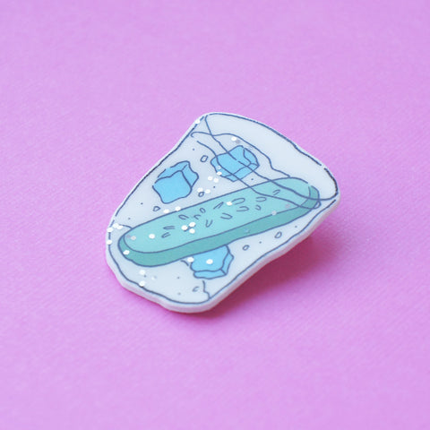 Badge: Gin and Tonic Glitter Brooch/Button