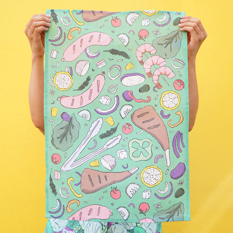 Tea Towel: Aussie BBQ