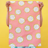 Tea Towel: Coral Citrus