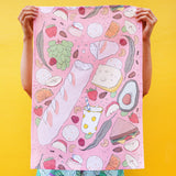 Tea Towel: Park Picnic