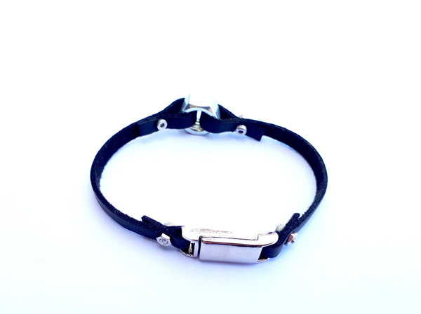 Nut charm leather bracelet