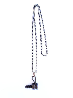 Men single side bolt necklace