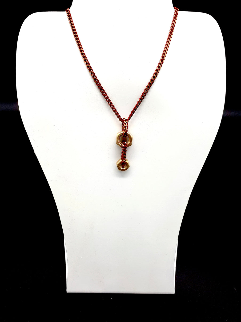 Red Dual Nuts Necklace