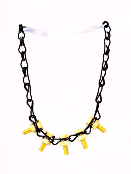 Black-Gold Stud Necklace