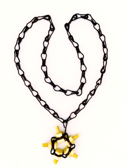 Black-Gold Star Necklace