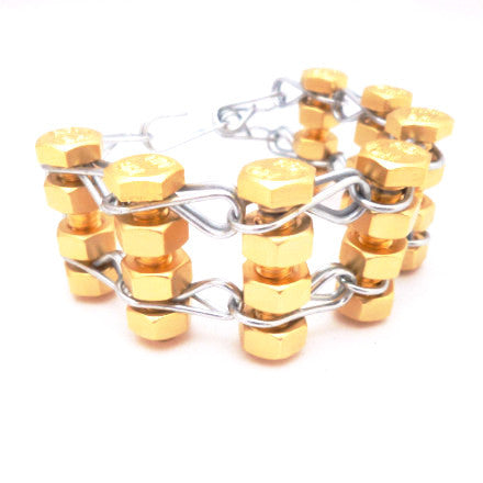 Gold Silver Heavy Metal Bracelet