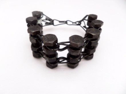 Black Heavy Metal Bracelet