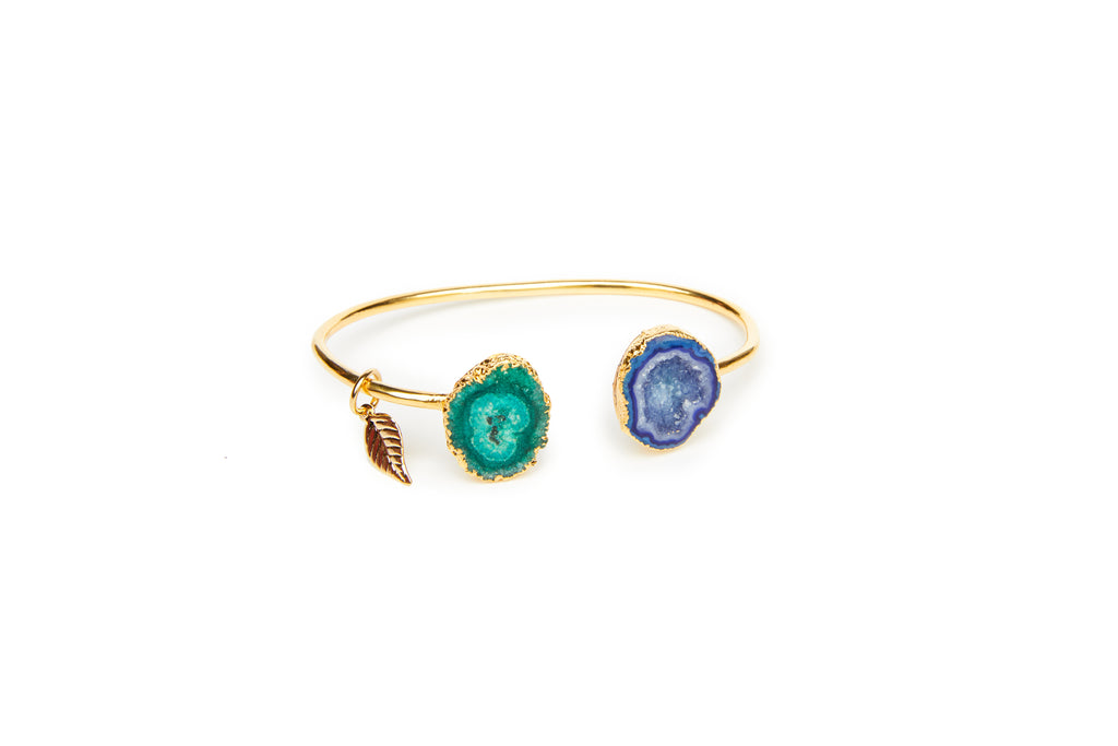 Blue & Green Rocks In The Sky Bangle