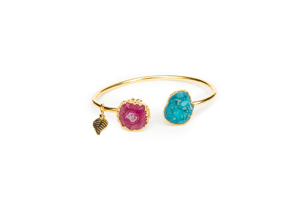 Green and Pink Rocks In The Sky Bangle