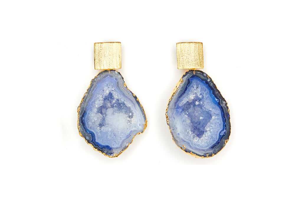 Rocks in the Sky Royal Blue Earrings