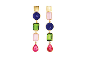 Deconstructed Gems Cocktail Earrings