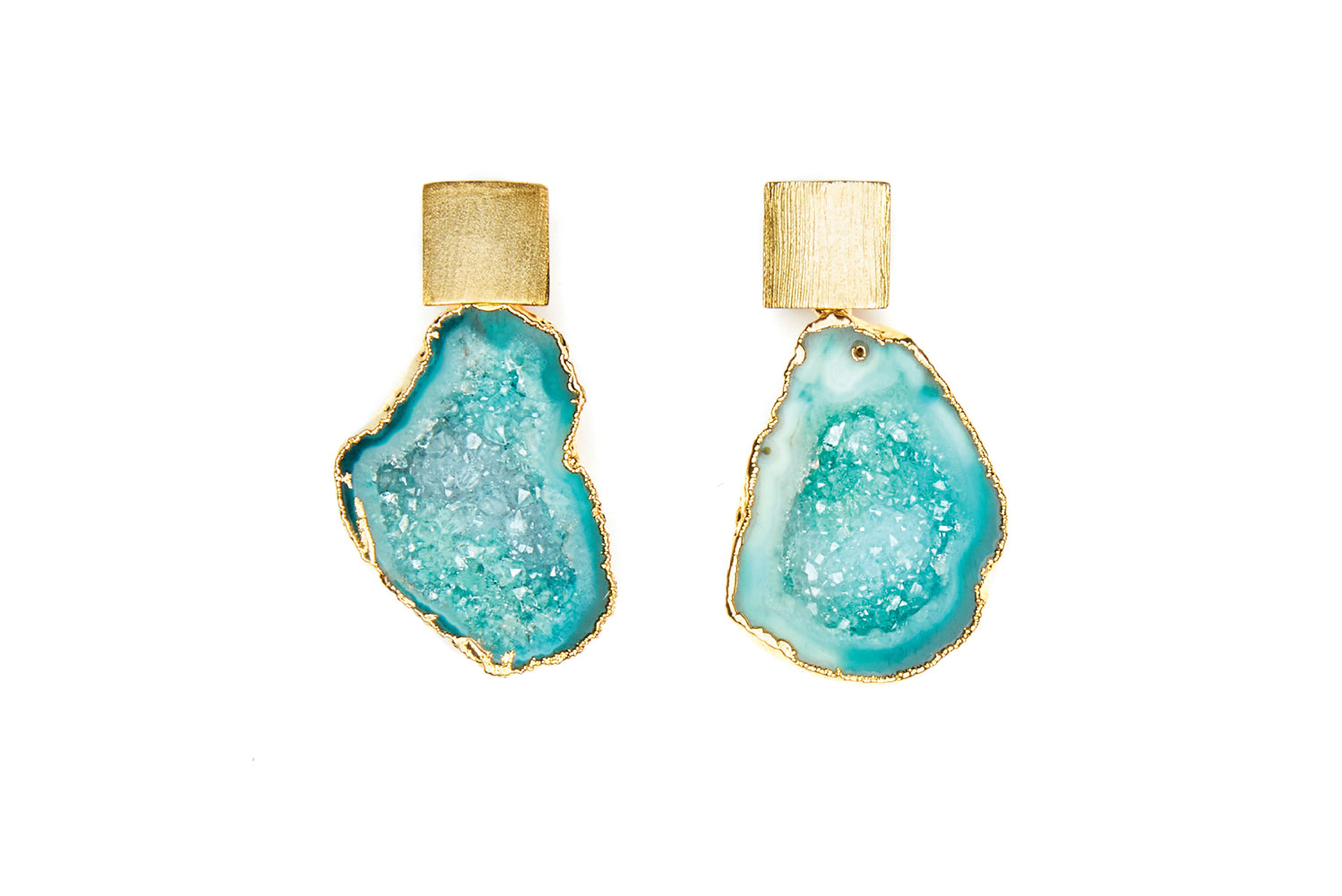 Rocks in the Sky Green Earrings