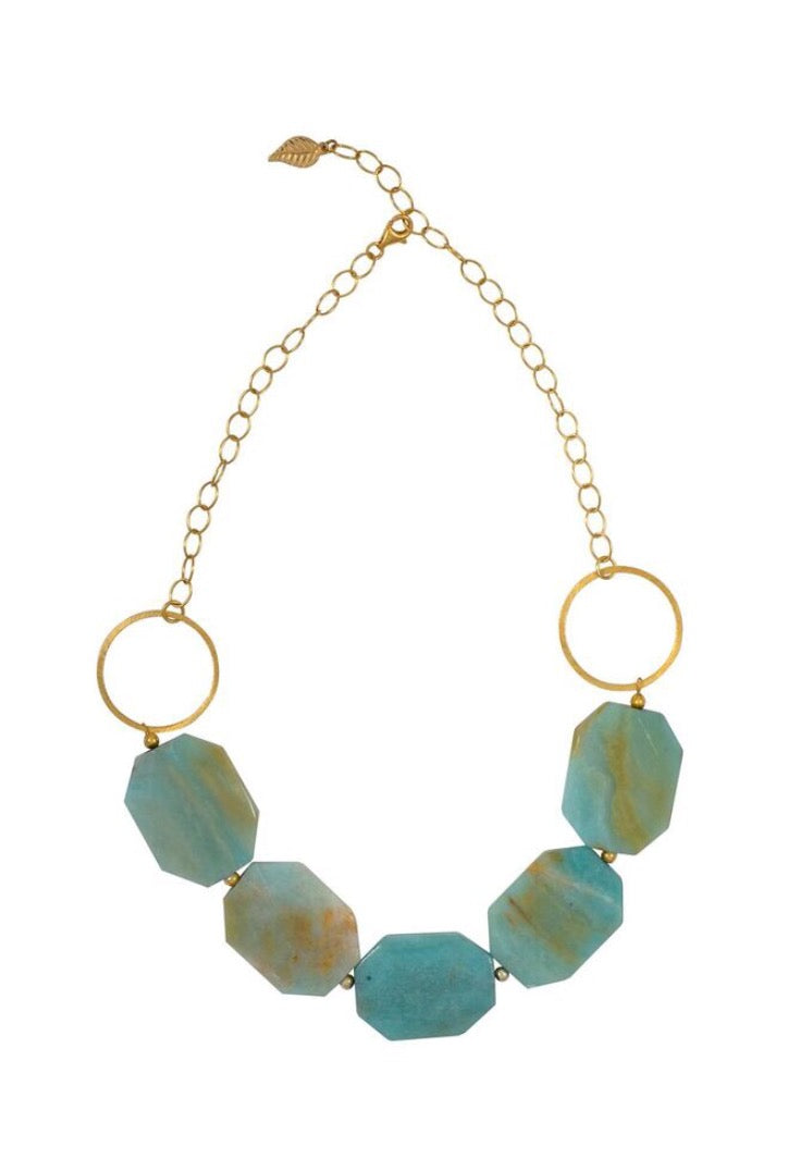 Green Amazonite Statement Necklace