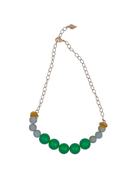 Green Onyx and Jade Necklace