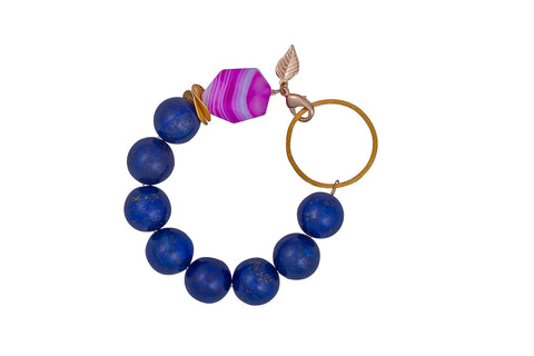 Lapis Lazuli and Rose Quartz Vermeil Bracelet