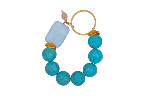 Turquoise and Vermeil Bracelet