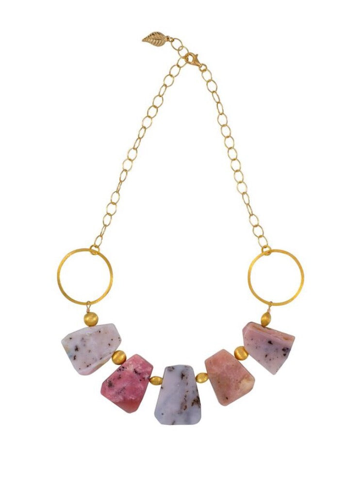Peruvian Pink Opal Statement Necklace