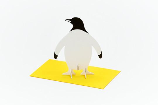 3D POP UP CARD - PENGUIN