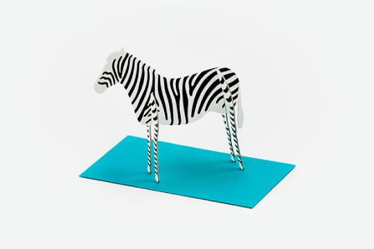 3D POP UP CARD - ZEBRA