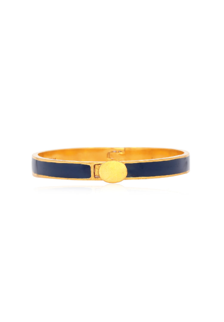Blue and Gold Enamel Bangle