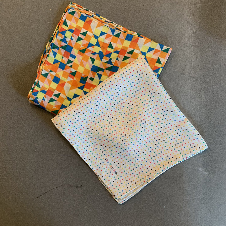Set of 2 Pocket Square - Multicolor