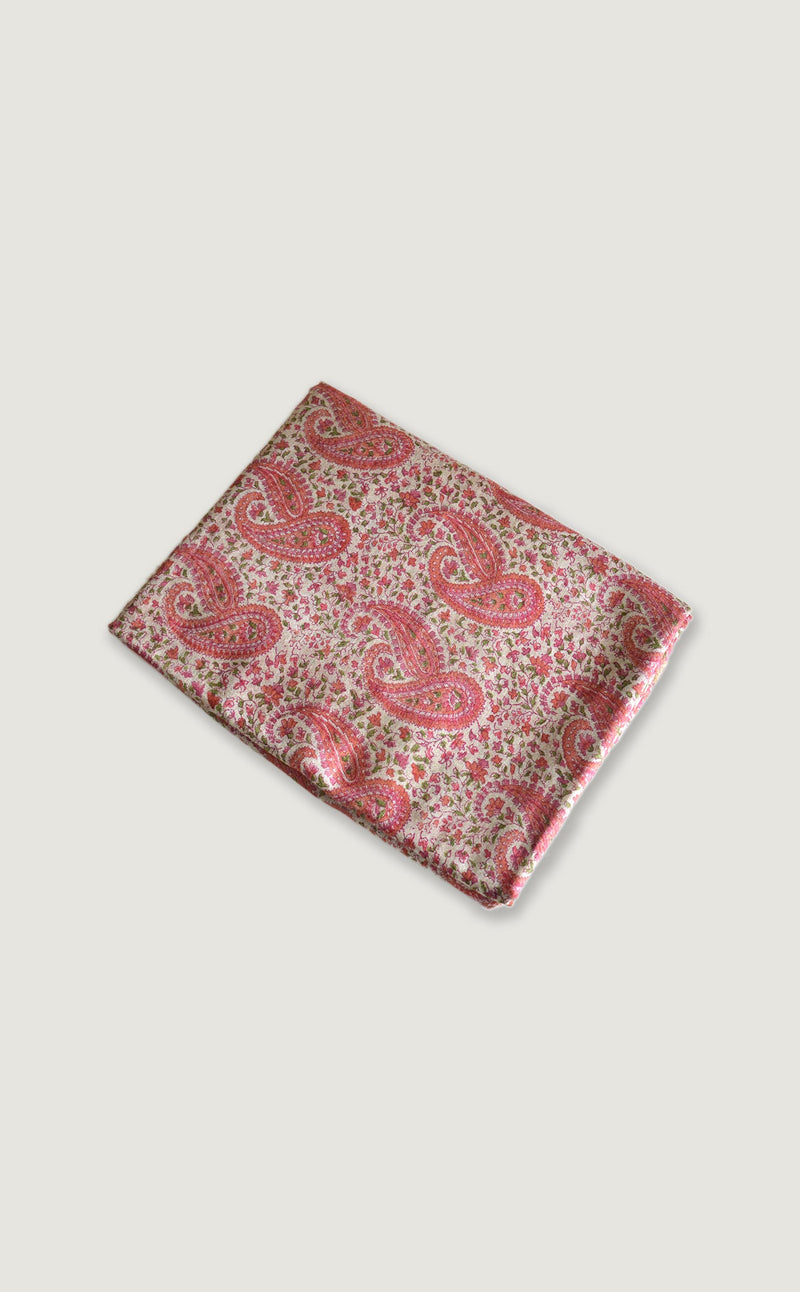 Pink Paisley Suit Material