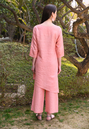 Salmon Asymmetrical Tunic