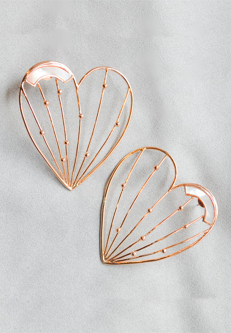 Stolen Hearts Mother of Pearl Earrings