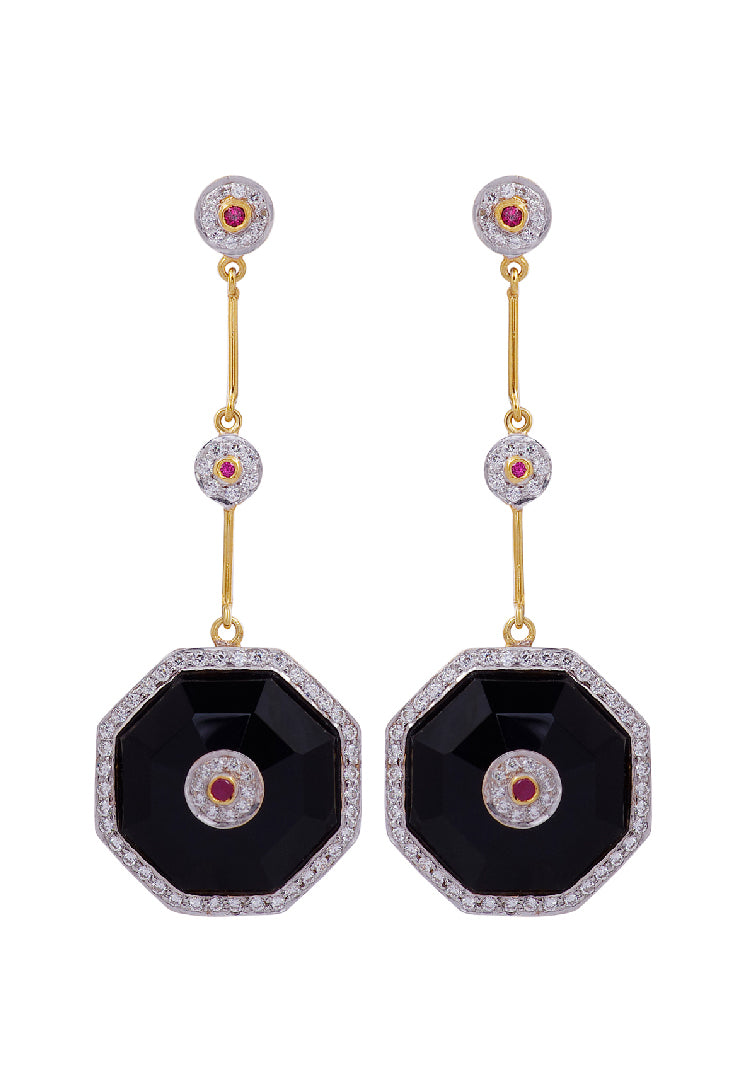 Black Onyx Duke Earrings
