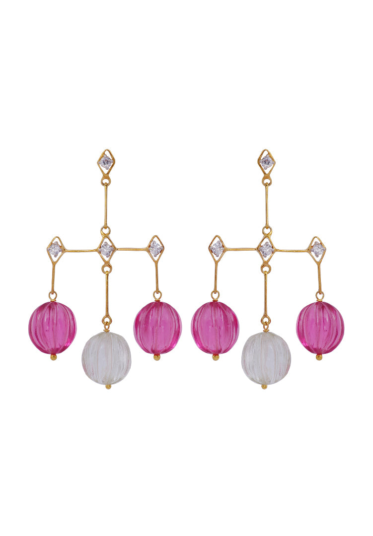 Pink Melon Earrings
