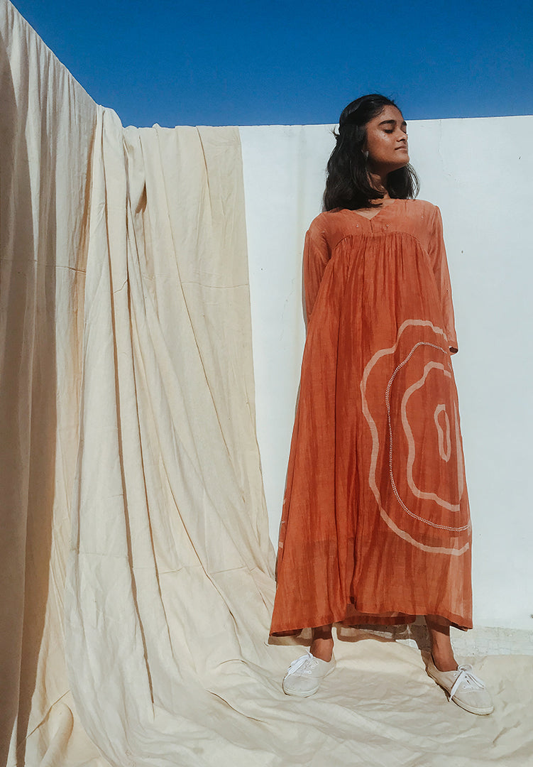 Arazi Dress - Rust Orange