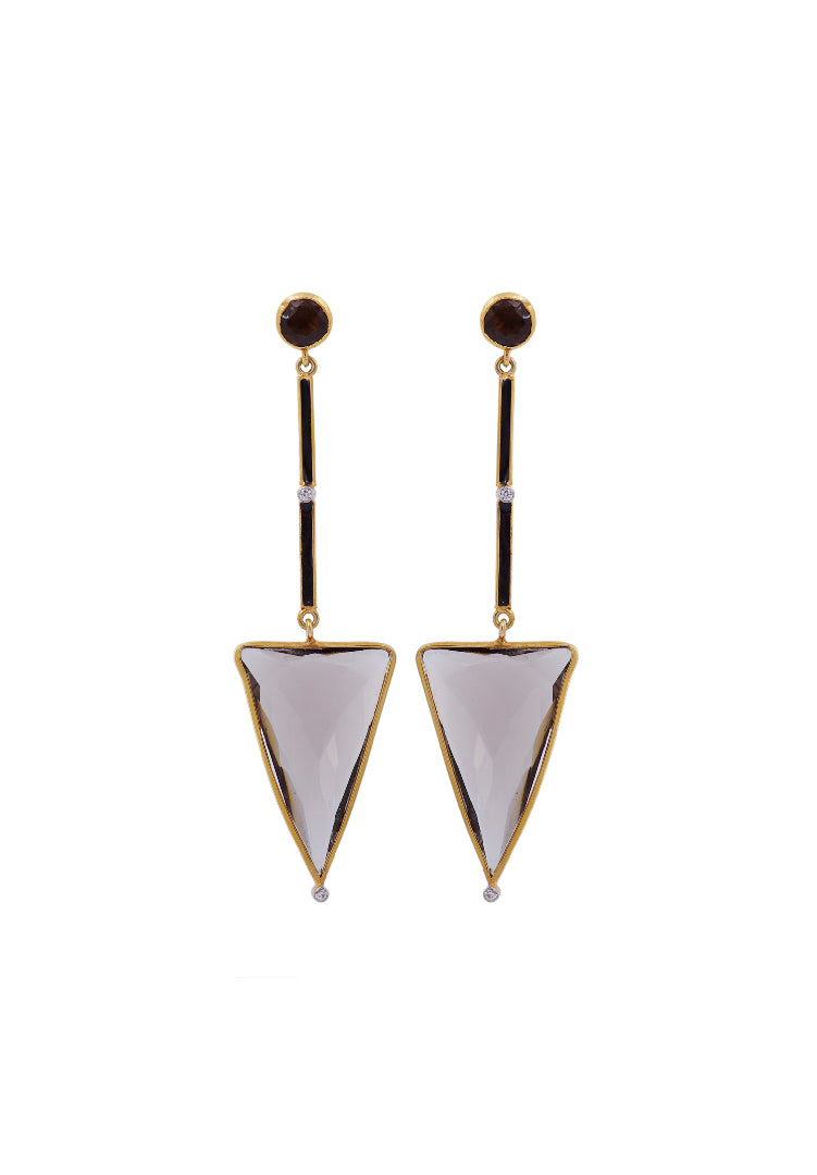 Smokey Spear Earrings