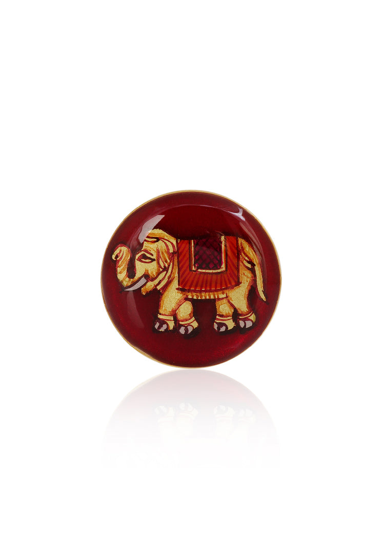 Red Majestic Elephant Cufflinks