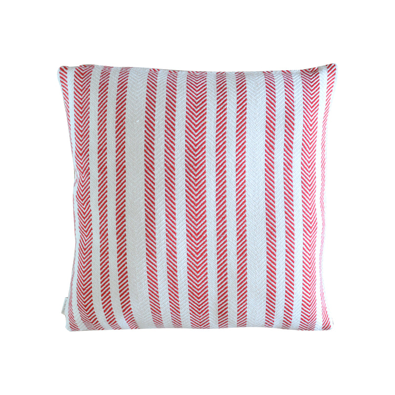 Red Herringbone Cushion