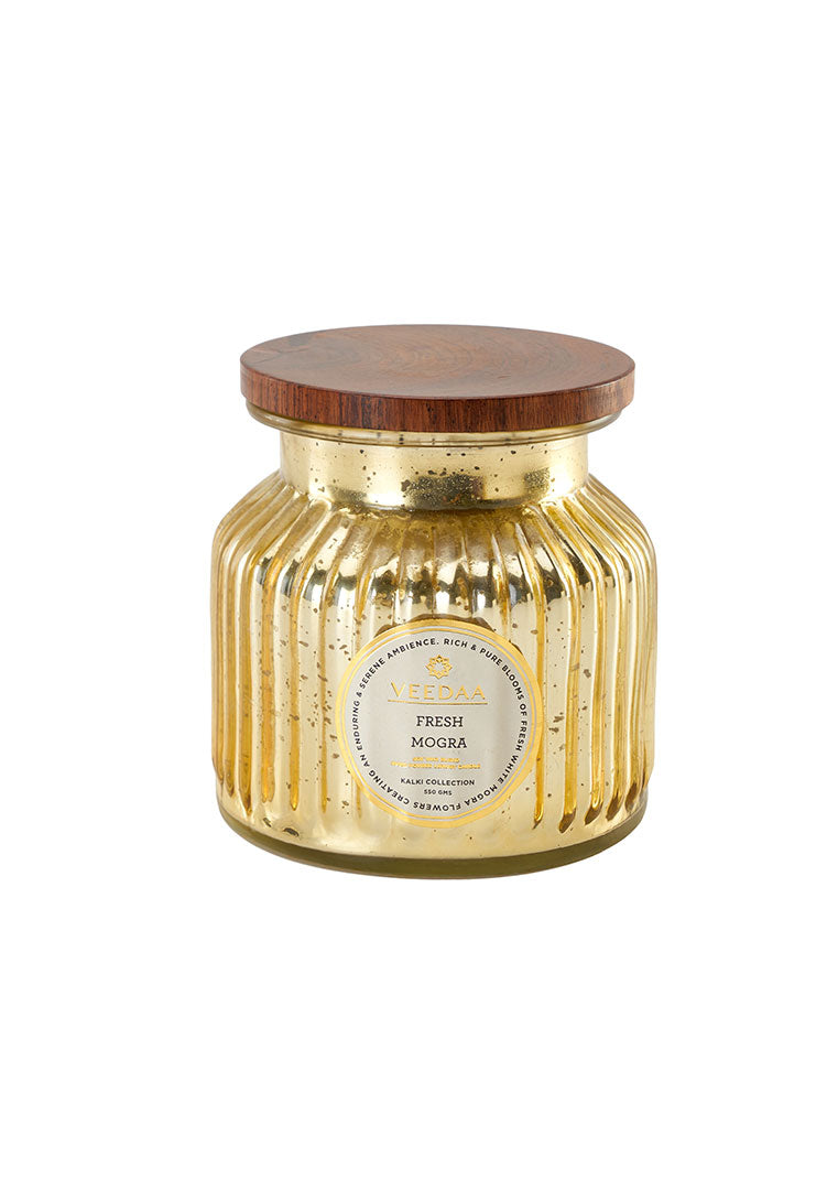 Fresh Mogra Mercury Glass - Soy Scented Candle
