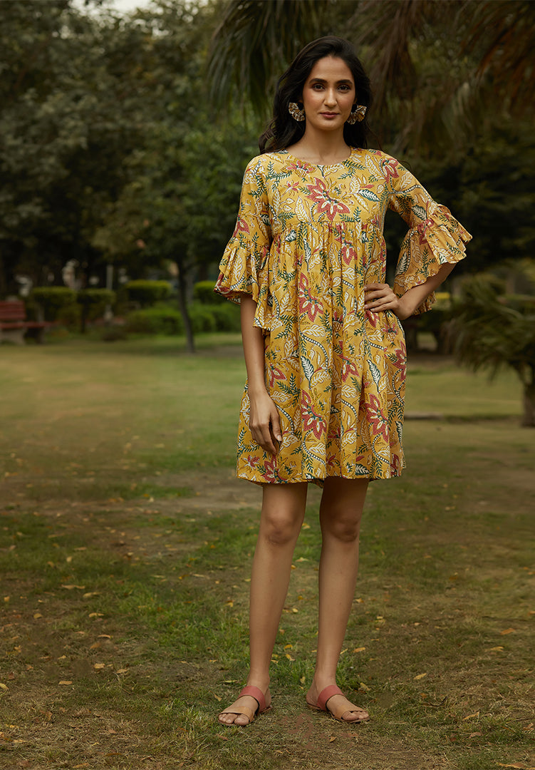 Summer Yellow Dress With Pockets