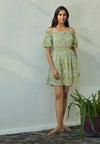 Alula Green Off Shoulder Dress