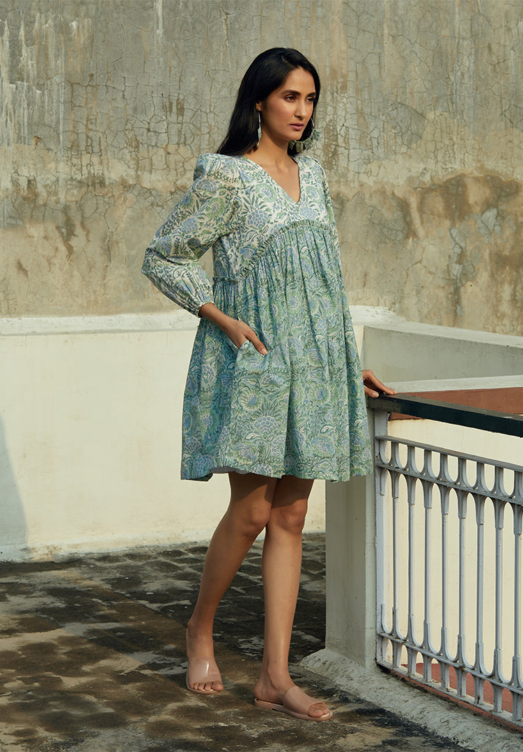 Cyrilla Blue Dress