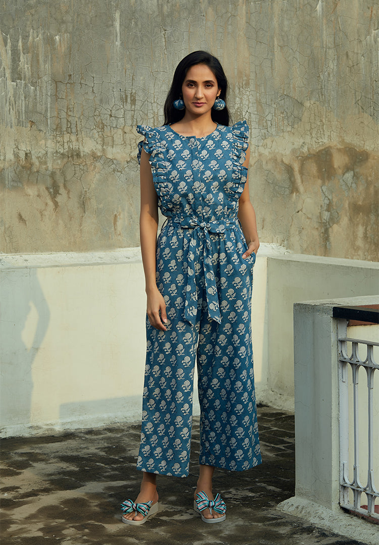 Space Blue Zia Jumpsuit