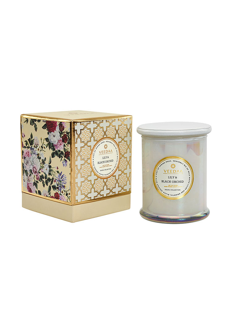 Lily & Black Orchid Danube Glass - Soy Scented Candle