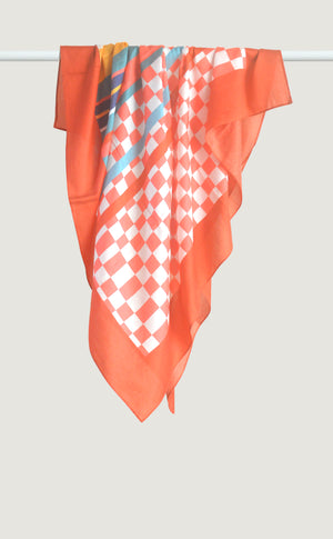 Coral Patterned Scarf