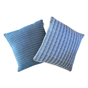 Blue Tribal Stripe Cushion